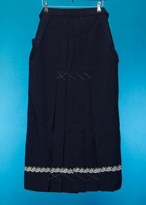 HA94-15女袴レンタル  (身長158-163 普通巾)  紺 裾レース