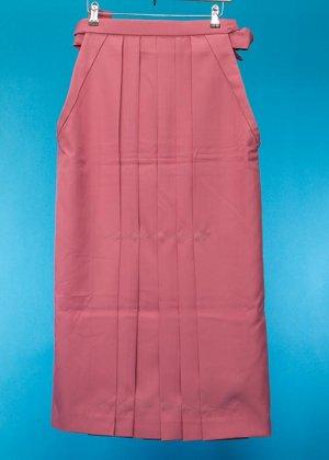 HA95-8女袴レンタル  (身長160-165普通巾) サーモンピンク 無地