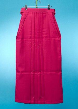 HA95-43女袴レンタル  (身長160-165普通巾) ピンク系 ローズピンク 無地