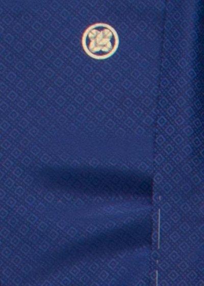 MP75-3紋付レンタル 裄75(身長175 胴回り76-106) 青紺