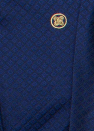 MP78-20トール紋付レンタル 裄78(身長185胴回り77-107)青紺/濃紺 菱模様