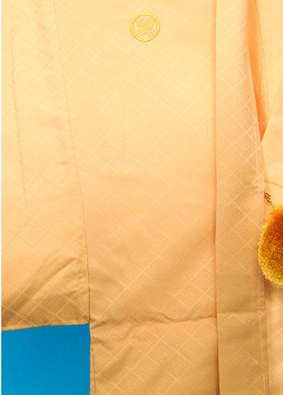 MP79-10トール紋付 裄78(身長185) 黄色系 クリーム/金茶ぼかし