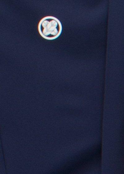 MP81-13トールワイド紋付レンタル 裄81(身長180-190 胴回り82-112)濃い紺色