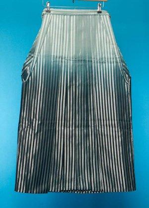 MH86-1男袴レンタル 紐下86(身長155cm前後)銀ストライプ グリーン濃淡ぼかし