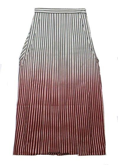 MH91-3男袴レンタル(身長170-175cm前後) 銀ストライプ 白黒ぼかし