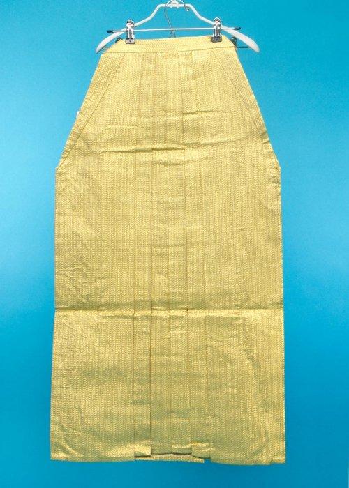 MH94-11男袴レンタル紐下94(身長175-180cm前後)金ラメ織 ゴールド