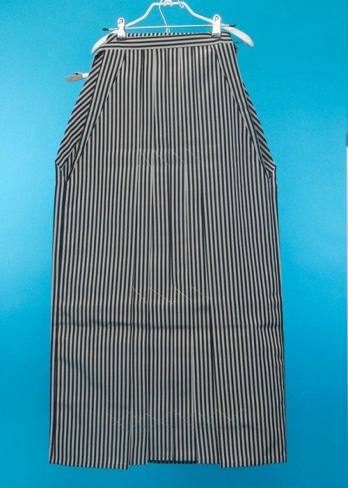 MH97-13トール男袴レンタル紐下97(身長180-185cm前後)仙台平タイプ 黒グレー縦縞 ストライプ【新品未使用】