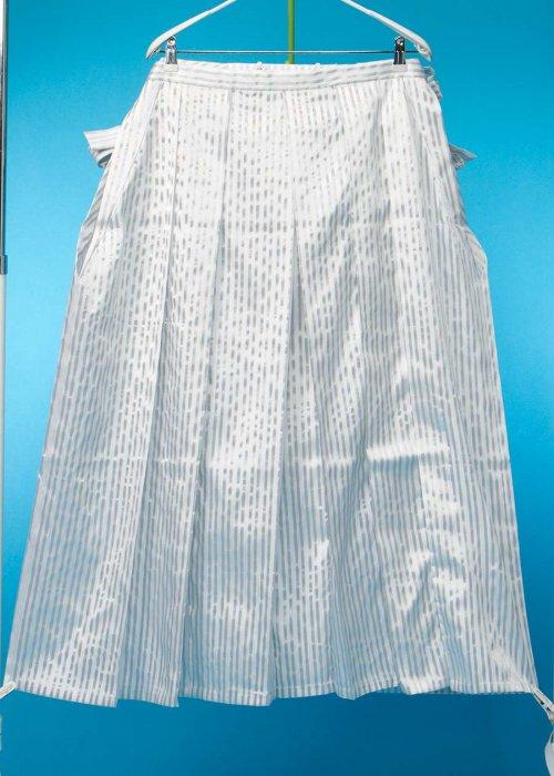 MH96-11トール超ワイド男レンタル(身長180-185 胴回り105-135) 白銀ストライプ  特注 巾ワイド、ひもロング加工済み