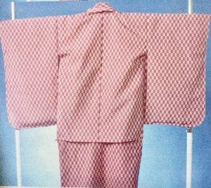 京5-77 5才前後 紋付 レンタル 矢がすり小紋