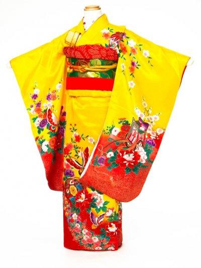 7-43女子7才着物(身長110-120cm)  黄色