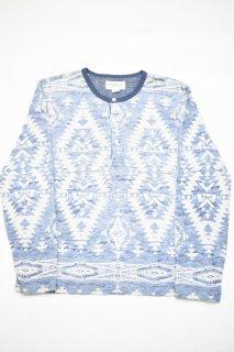 デニム&サプライ ネイティブプリント ヘンリーネックTシャツ<BR>DENIM & SUPPLY  NATIVE AMERICAN PATTERNED L/S T-SHIRT