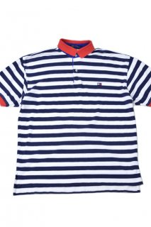 90s トミーヒルフィガー ボーダーポロシャツ<BR>TOMMY HILFIGER STRIPED POLO SHIRT