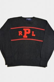 90s ポロスポーツ コットンニットセーター<BR>POLO SPORT COTTON KNIT SWEATER
