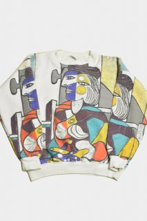 88s ピカソ 総柄プリントスウェット<BR>VINTAGE PICASO PRINT SWEAT SHIRT