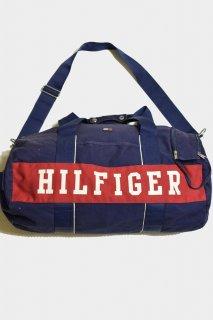 トミーヒルフィガー キャンバスボストンバッグ<BR>VINTAGE TOMMY HILFIGER CANVAS BOSTON BAG
