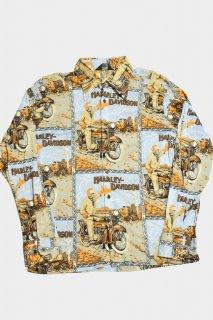 70s ヴィンテージ ハーレーダビッドソン ポリシャツ<BR>VINTAGE HARLEY DAVIDSON POLY SHIRT