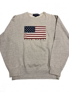 90s ポロスポーツ 星条旗 スウェット<BR>VINTAGE POLO SPORT AMERICAN FLAG SWEAT SHIRT