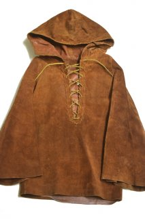 70s ヴィンテージ レザーアノラックパーカー<BR>VINTAGE LEATHER ANORAK PARKA