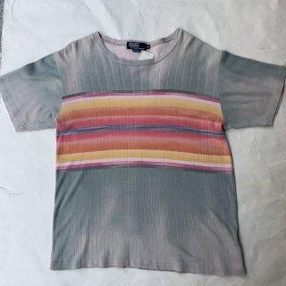 90s ポロ ラルフローレン ネイティブボーダー Tシャツ<BR>90s POLO RALPH LAUREN NATIVE BOARDER T-SHIRT