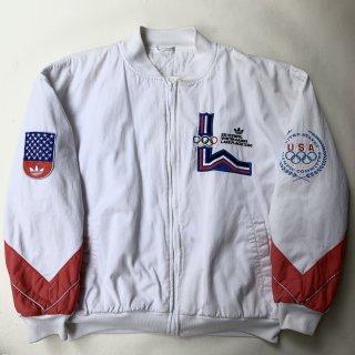 80s アディダス オリンピックメモリアル フルジップスウェット<BR>80s ADIDAS OLYMPIC MEMORIAL ZIP SWEAT