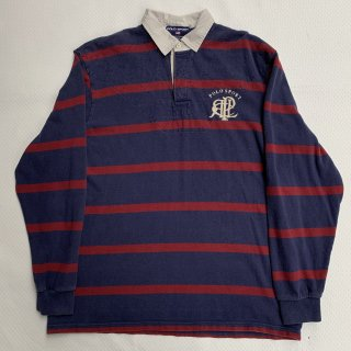 90s ポロスポーツ ワンポイント ラガーシャツ<BR>90s POLO SPORT ONEPOINT RUGGER SHIRT