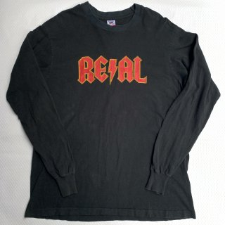 90s リアル スケートボード ロゴ L/S Tシャツ<BR>90s VINTAGE REAL SKATE BORDS L/S T-SHIRT