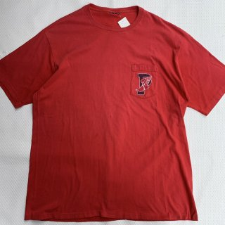 90s VINTAGE POLO RALPH LAUREN PWING POCKET T-SHIRT<BR>90s ヴィンテージ ポロ ラルフローレン Pウィング Tシャツ 赤