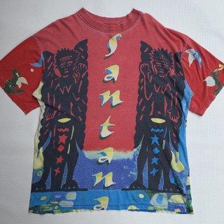 90s VINTAGE SANTANA T-SHIRT<BR>90s サンタナ 総柄 Tシャツ