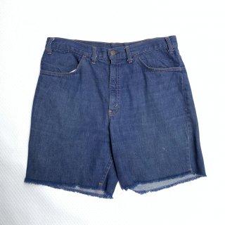 60s 70s VINTAGE LEVIS BIGE DENIM SHORT PANTS <BR>珍品 リーバイス ショーツ ビッグE