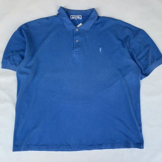 VINTAGE YVES SAINT LAUREMT POLO SHIRTS(BLUE) <BR>ヴィンテージ イヴサンローラン ポロシャツ(ブルー)
