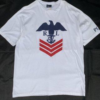90s RLPH LAUREN EAGLE T-SHIRT<BR>90s ラルフローレン イーグルプリントTシャツ