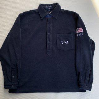 90s VINTAGE POLO SPORT DESIGN FLEECE SHIRT<BR>ヴィンテージ ポロスポーツ フリースシャツ
