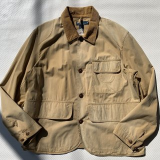 90s VINTAGE POLO RALPH LAUREN COTTON HUNTING JACKET<BR>ヴィンテージ ラルフローレン コットン ハンティングジャケット