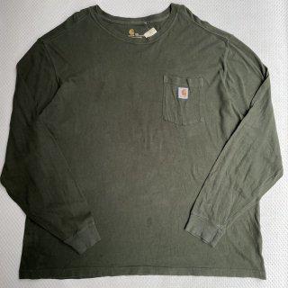 00s CARHARTT L/S T-SHIRT(GREEN)<BR>00s カーハート L/S Tシャツ(GREEN)