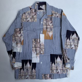 90s JUN MEN DESIGN SILK SHIRT