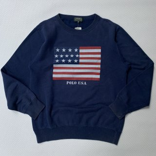 90s VINTAGE POLO COUNTRY US FLAG SWEAT SHIRT