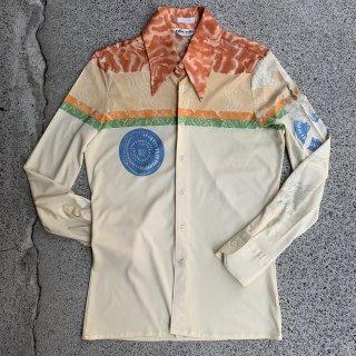 70s VINTAGE NIKNIK<BR> L/S POLY SHIRT<BR>ヴィンテージ ニクニク<BR>ポリシャツ 長袖