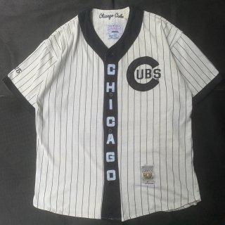90s VINTAGE<BR>CHICAGO CUBS MLB<BR>B/B SHIRT<BR>シカゴ カブス メジャー<BR>ベースボールシャツ