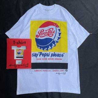 90s VINTAGE<BR>ANDY WARHOL<BR>PEPSI ART T-SHIRT<BR>90s アンディウォーホル<BR>ペプシアートTシャツ 箱付き