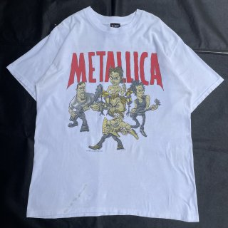90s VINTAGE<BR>METALLICA<BR>COMIC PRINT<BR>T-SHIRT<BR>メタリカ<BR>アメコミ風プリント <BR>Tシャツ