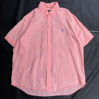 POLO RALPH LAUREN<BR>S/S LINEN SHIRT(PINK)<BR>ラルフローレン<BR>S/S リネン シャツ(ピンク)