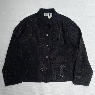 VINTAGE<BR>CHICO's DESIGN<BR>EMBROIDERY<BR>JACKET<BR>チコデザイン<BR>装飾刺繍 ジャケット