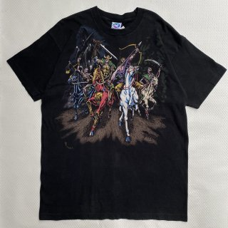 90s VINTAGE<BR>LIQUID BLUE<BR>SOLDIER<BR>PRINT T-SHIRT<BR>90s<BR>リキッドブルー<BR>ソルジャー<BR>プリントTシャツ