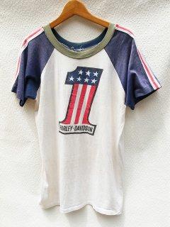 ハーレーダビッドソン No.1 プリント Tシャツ<BR>HARLEY DAVIDSON No.1 PRINT T-SHIRT