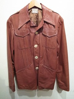 70's NATURAL COMFORT LEATHER JACKET
