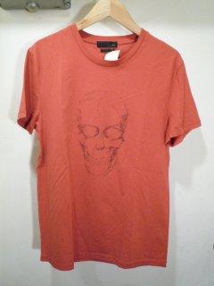 アレキサンダーマックイーン スカルプリントTシャツ<BR>ALEXANDER McQEEN SKULL PRINT TEE