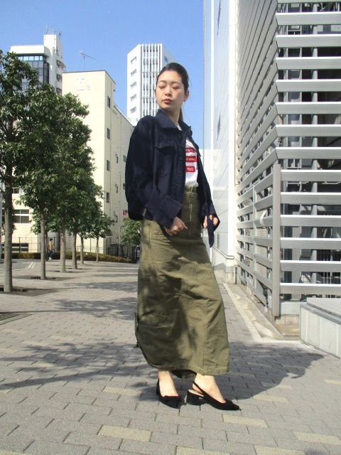 <img class='new_mark_img1' src='https://img.shop-pro.jp/img/new/icons16.gif' style='border:none;display:inline;margin:0px;padding:0px;width:auto;' />Styling/スタイリング military skirt