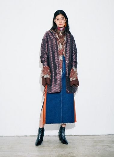 5-knot /ファイブノット LINE-PRINTED SKIRT