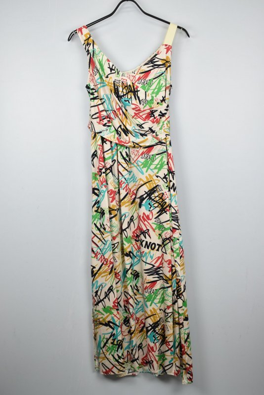 5-knot/ファイブノット WALL GRAFFITI PRINT DRESS