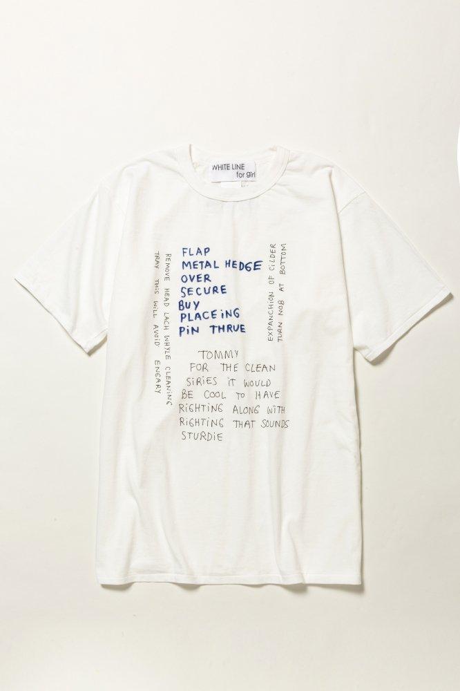 WHITE LINE/ ホワイトライン WL LOGO T-shirt
